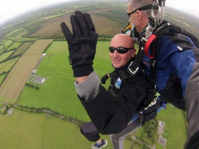 Sky Dive 4 Sight Loss participant jumping from the plane