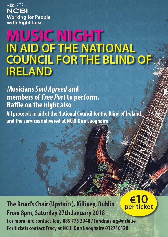 Music Night in aid of the National Council for the blind of Ireland in Killiney