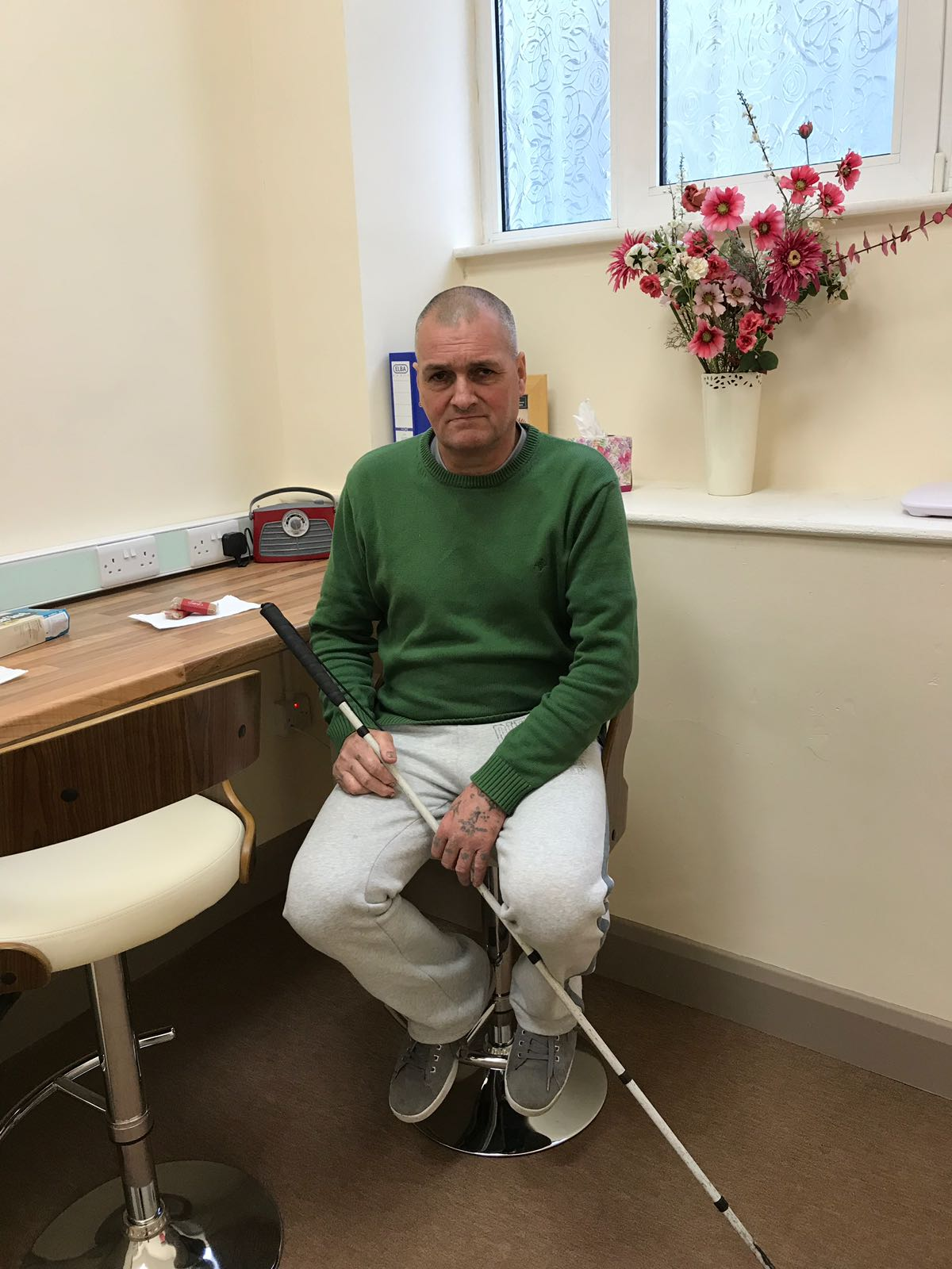 Robert Orr sitting in the NCBI Office in Galway