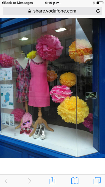Photo is of the front shop window of the NCBI shop in Tralee