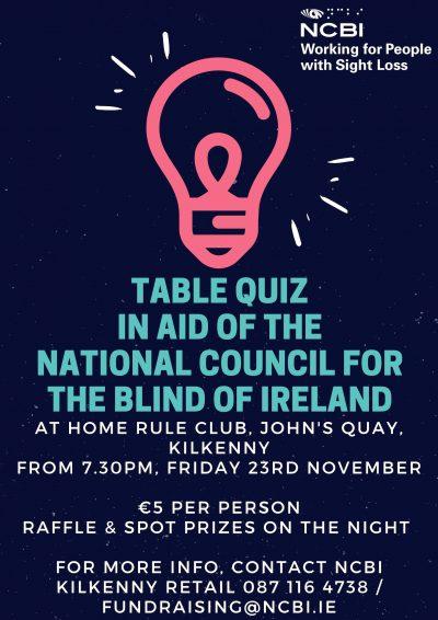 Image of Kilkenny Quiz Poster