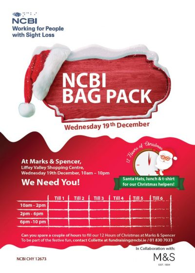 Poster for the M&S Christmas Bag Pack 2018