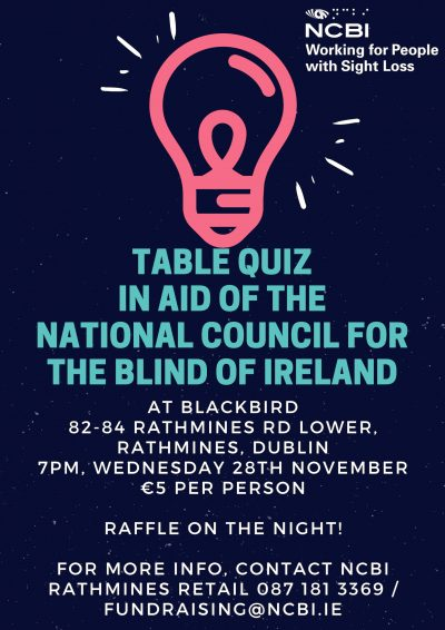 Rathmines Quiz Poster