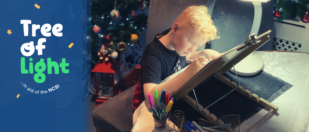 Photo: Tree of light - Josh, 8 years old doing what he's like the most. drawing.
