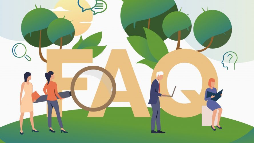 People asking frequent questions landing page. FAQ, confusion, support. FAQ concept. Vector illustration for website, landing page, online store