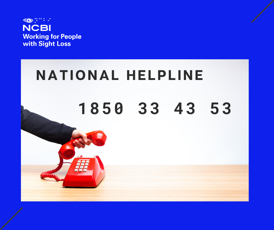 NCBI's national helpline open to support blind or visually impaired people