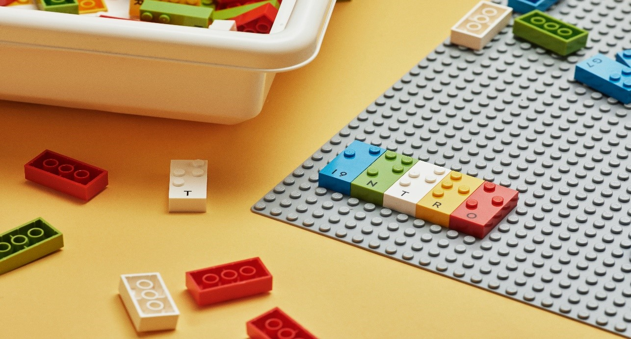 Image of Braille Lego bricks