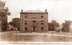 old image of front of Drumcondra hospital