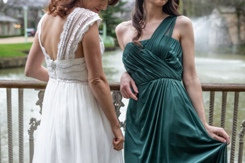 photo of the bride and her maid of honour