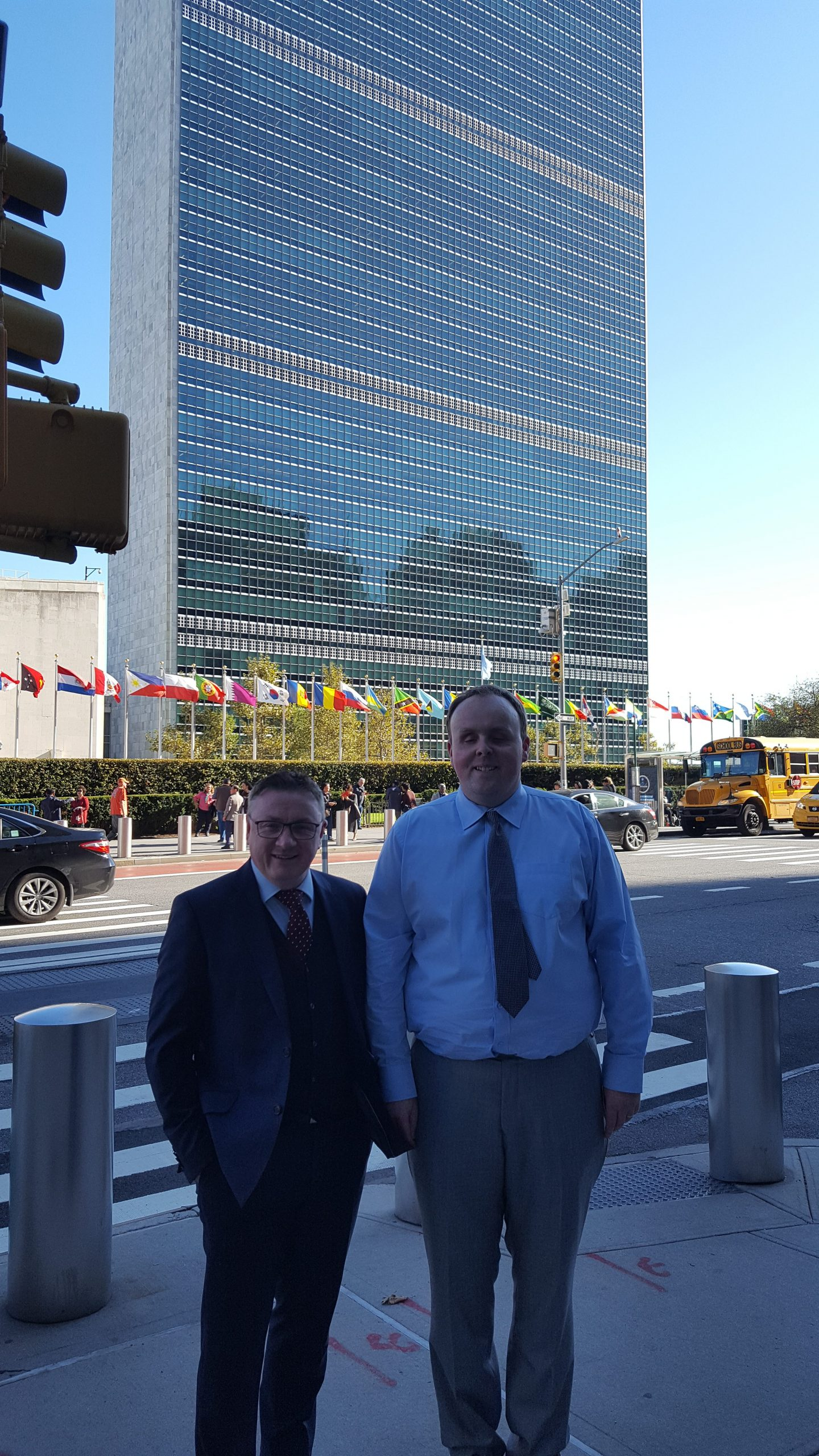 Chris White and Kevin Kelly NCBI at UN building