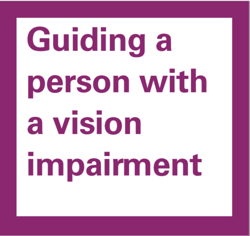 Guiding a person with vision impairment