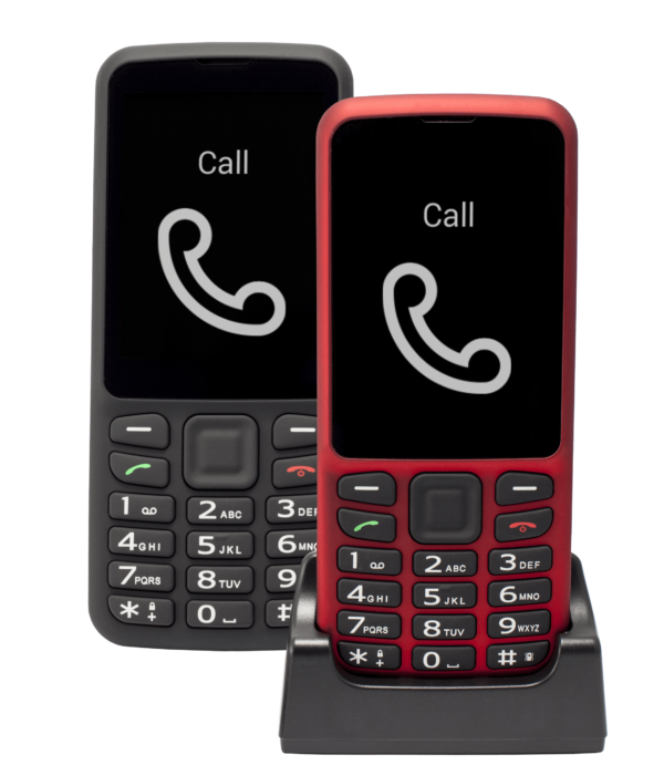 Blindshell Classic phone in black and red