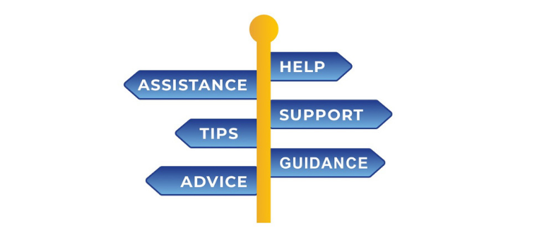 Sign - Help,assistance, support, tips,guidance, advice