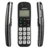 Emporia Big Button Cordless Phone front and side view