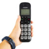 Emporia Big Button Cordless Phone in hand for scale
