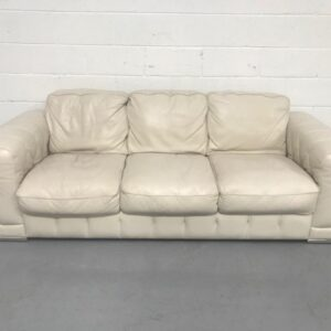 Violino White leather sofa