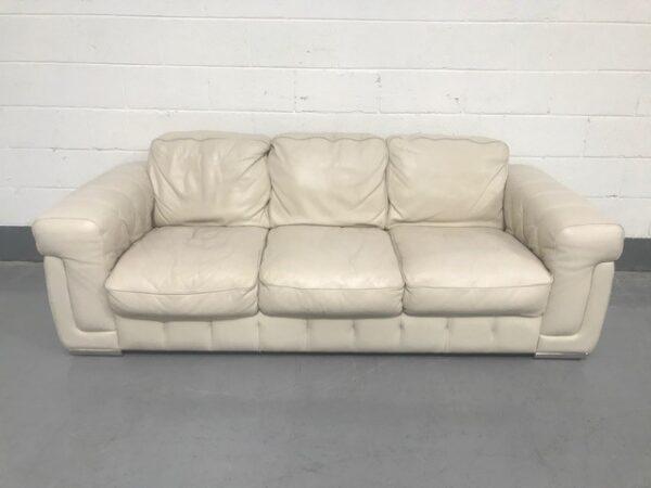 Violino White leather sofa