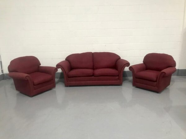 Traditional Suite of one sofa and two chairs