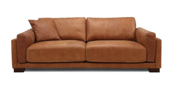 Brown 4 seater sofa