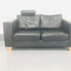 Black Two seated sofa
