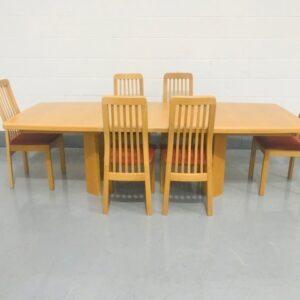 Light wooden Extending Dining Table
