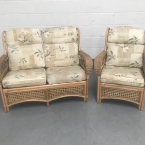 Wicker Two Seat Sofa and Chair
