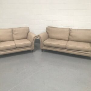 3 and 2 piece oatmeal colour sofa