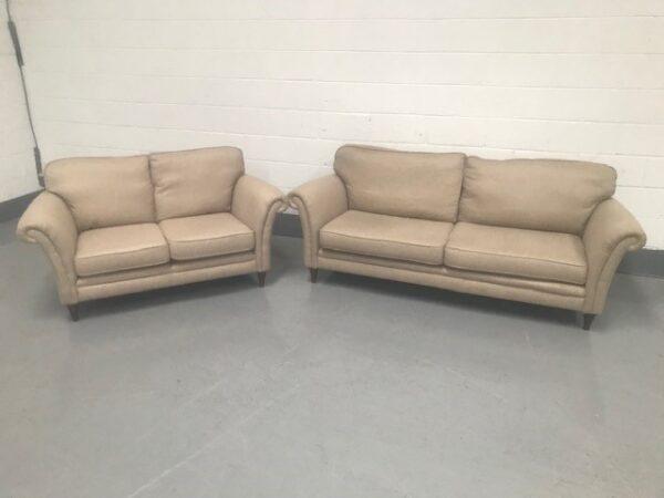 3 and 2 piece oatmeal colour sofa