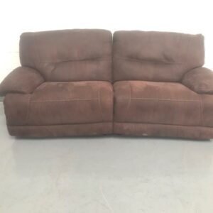 brown suede three seater reclining soda