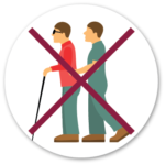 do not grad a blind or vision impaired person icon