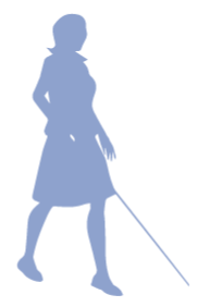 blind woman icon