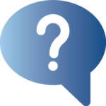 speech bubble with a question mark icon