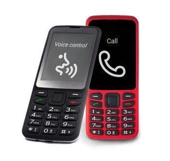 BlindShell Classic (Black) and Lite (Red) mobile phones